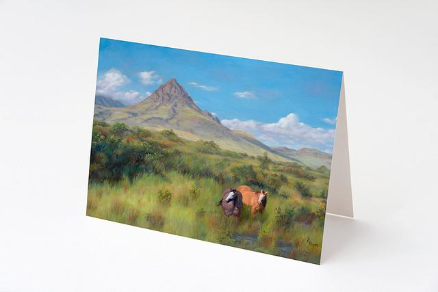 """""""Belly High Grass"""" card by Shelly Rogers #800001"""