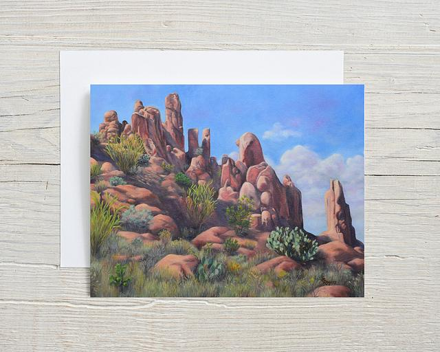 """""""Big Bend Palisades"""" card by Shelly Rogers #800001"""