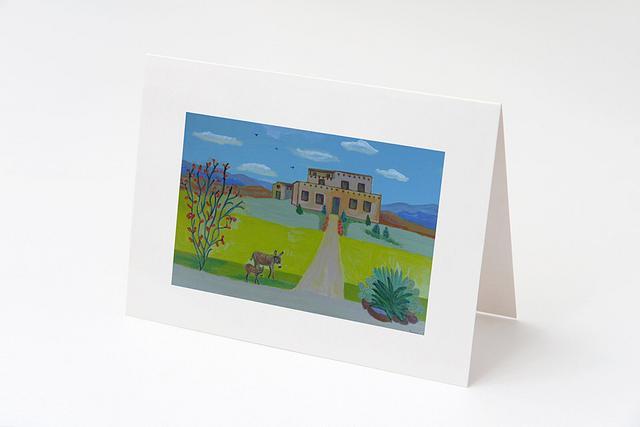 """""""Adobe Hacienda"""" card by Charlotte Senneff #800002"""