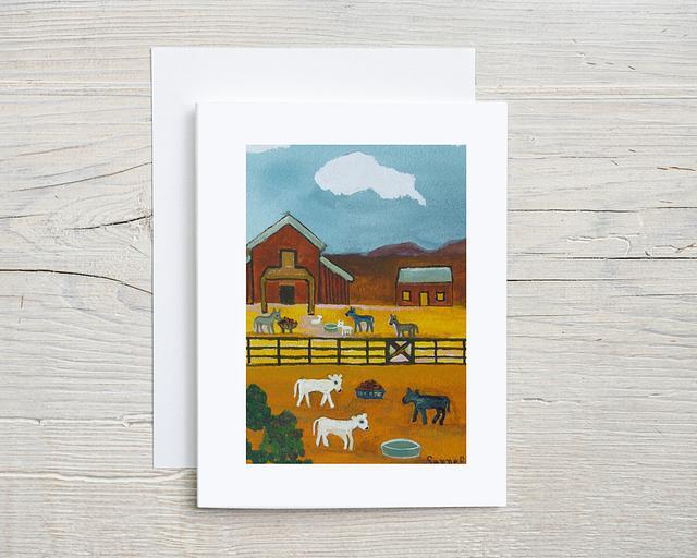 """Farm Families"" card by Charlotte Senneff #800002"