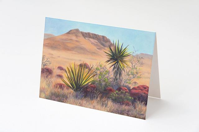 """""""Yucca at the O6 Ranch"""" card by Shelly Rogers #800001"""
