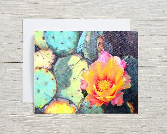 """""""Patchwork Prickly Pear"""" card by Shelly Rogers #800001"""