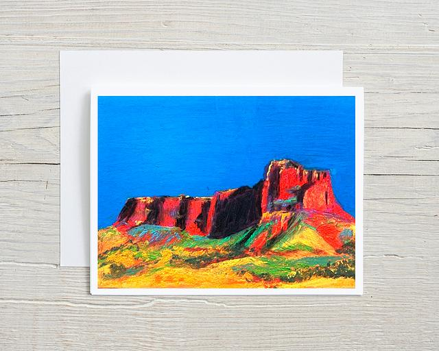 """""""Colorful Cathedral"""" card by Patsy Culver #800003"""