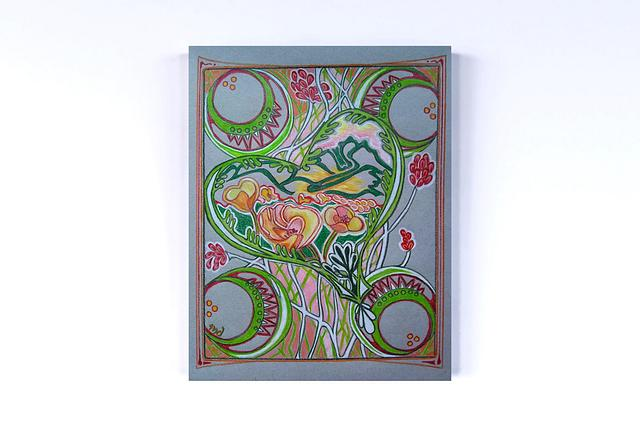 """Heart Nouveau""  original art by Mary Diesel #800020"