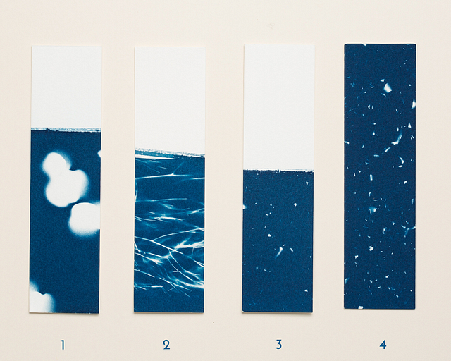 Marques-pages Cyanotypes