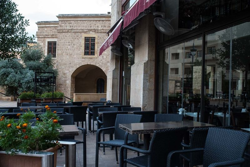 An empty restaurant in the downtown area of Beirut. A travel warning issued by Gulf states (S.Arabia, Qatar, Kuwait, Oman, Bahrain and the UAE) advising its citizens to stop traveling to Lebanon has hurt the local economy. Hundreds of restaurants have closed especially in Beirut's upmarket downtown area, and many other tourism-related firms have gone out of business.