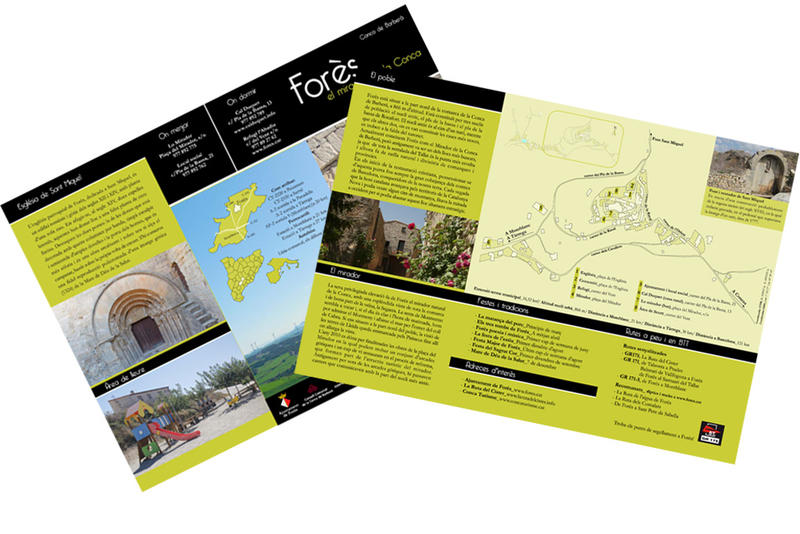 Tríptic turístic del poble de Forès