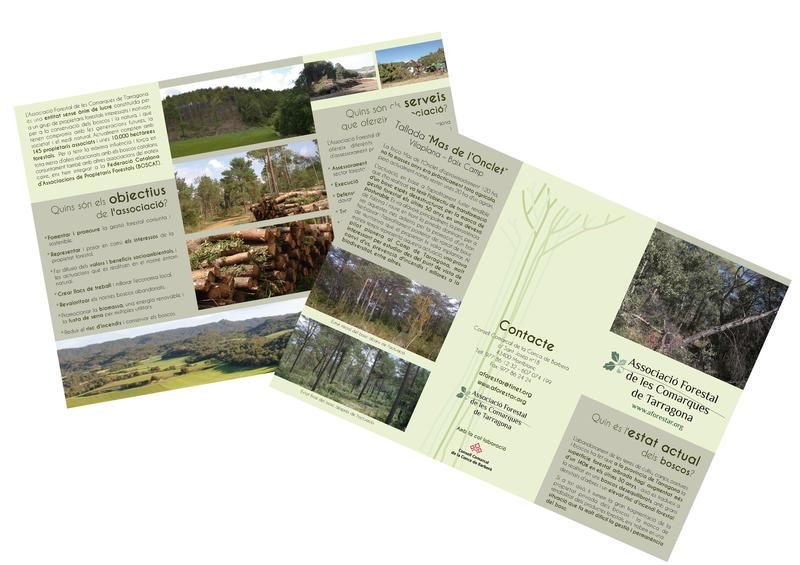 Tríptic Associació Forestal de les comarques de Tarragona