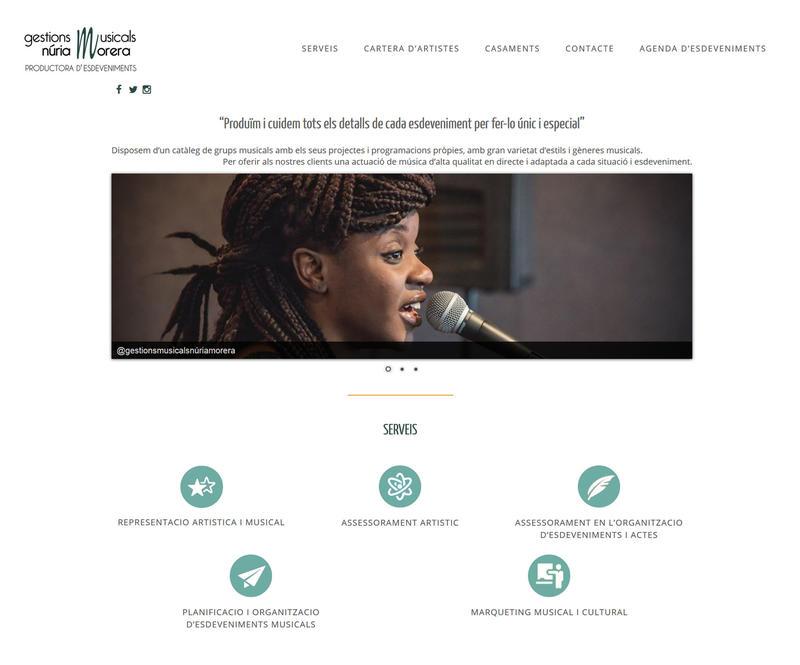 Web gestions musicals Núria Morera