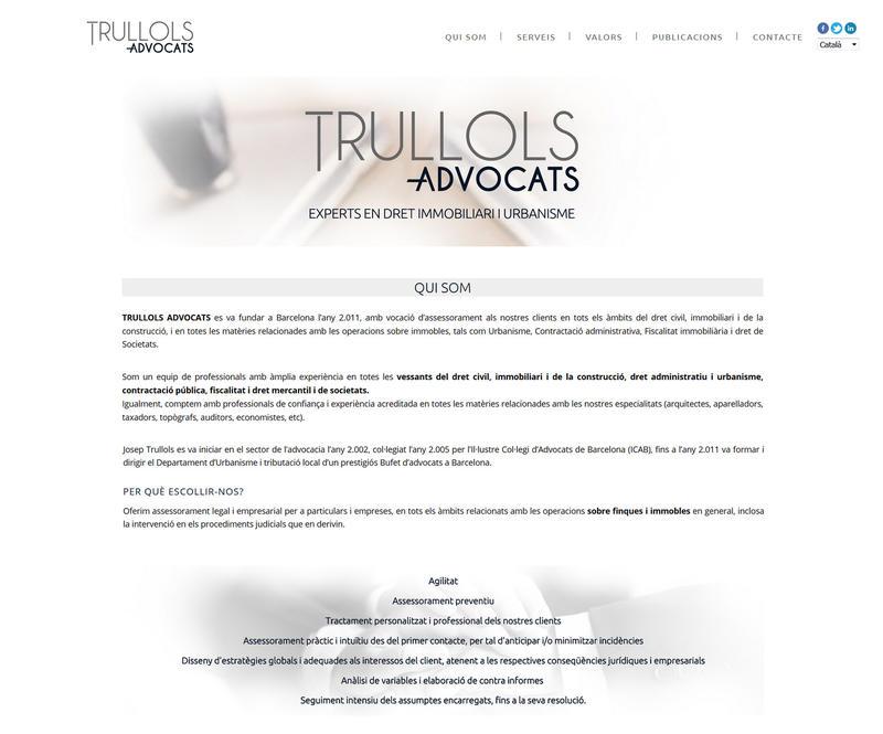 Web Trullols Advocats