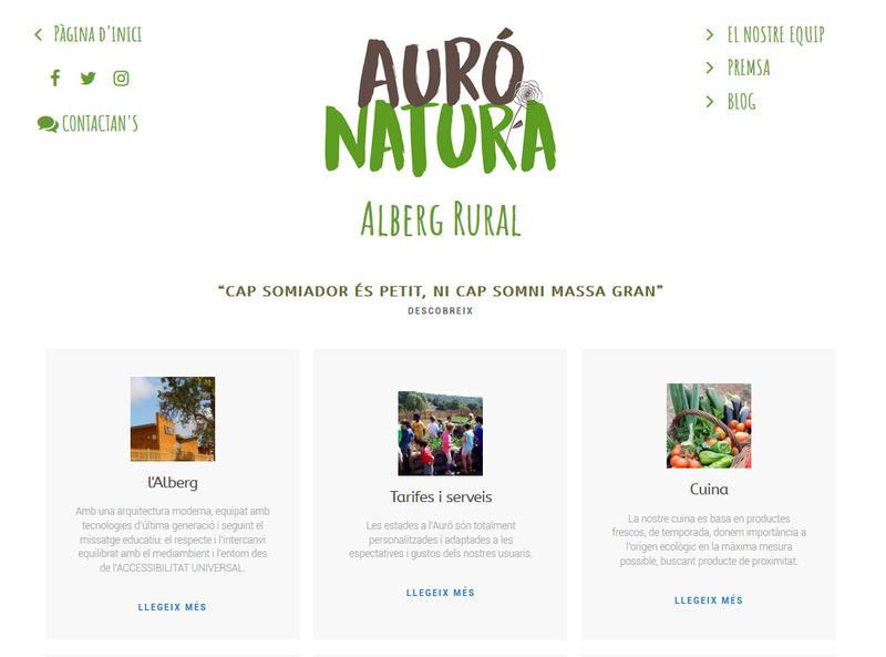 Web Auró Natura