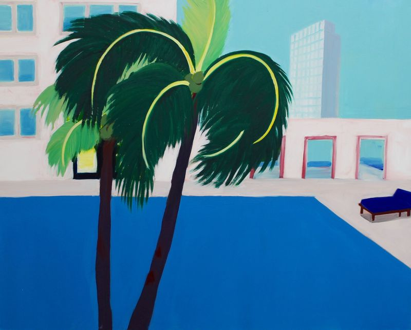 Pool, 2016, oil on canvas, 152 x 122 cm