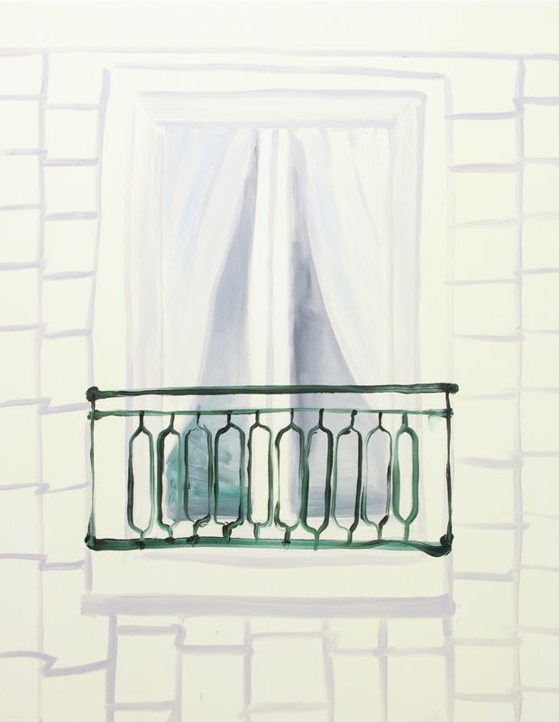 Balcony, 2016, 122 x 152 cm, oil on canvas