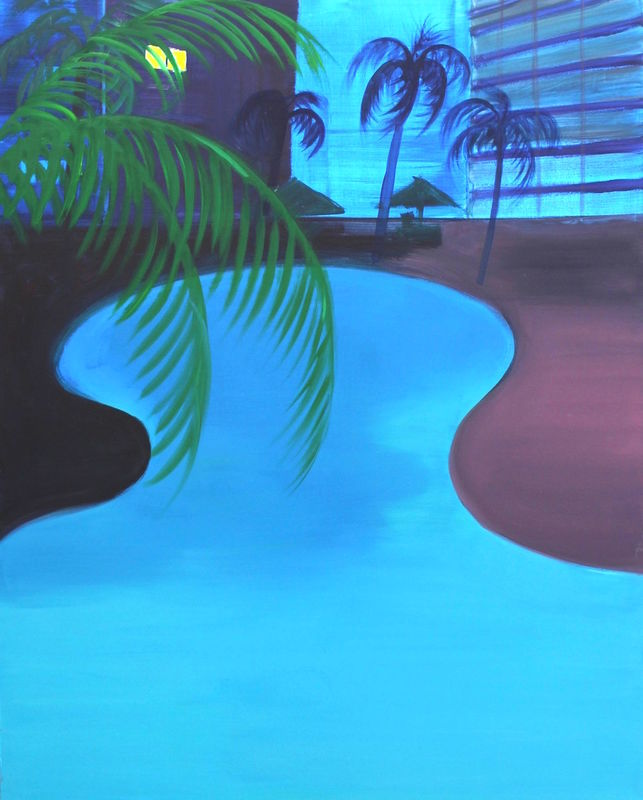 Pool II, 2016, oil on canvas, 122 x 152 cm