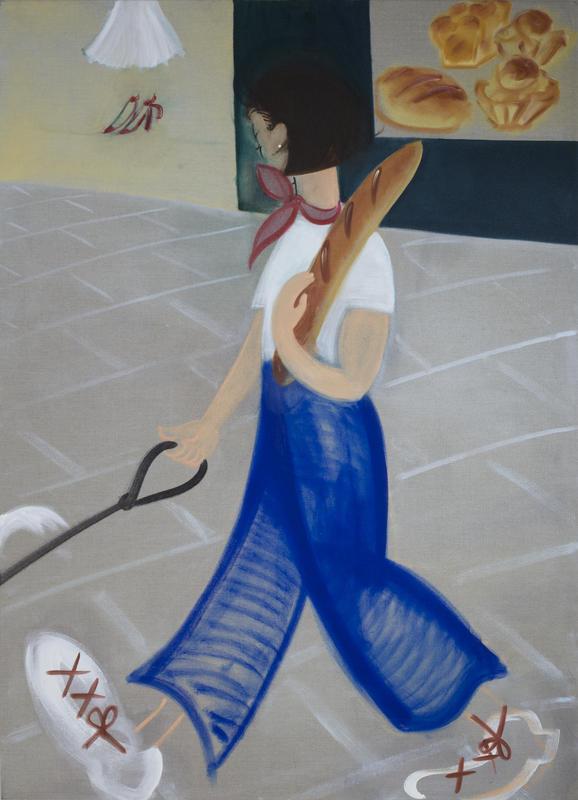 Baguette, 2017, 180 x 130 cm, oil on linen