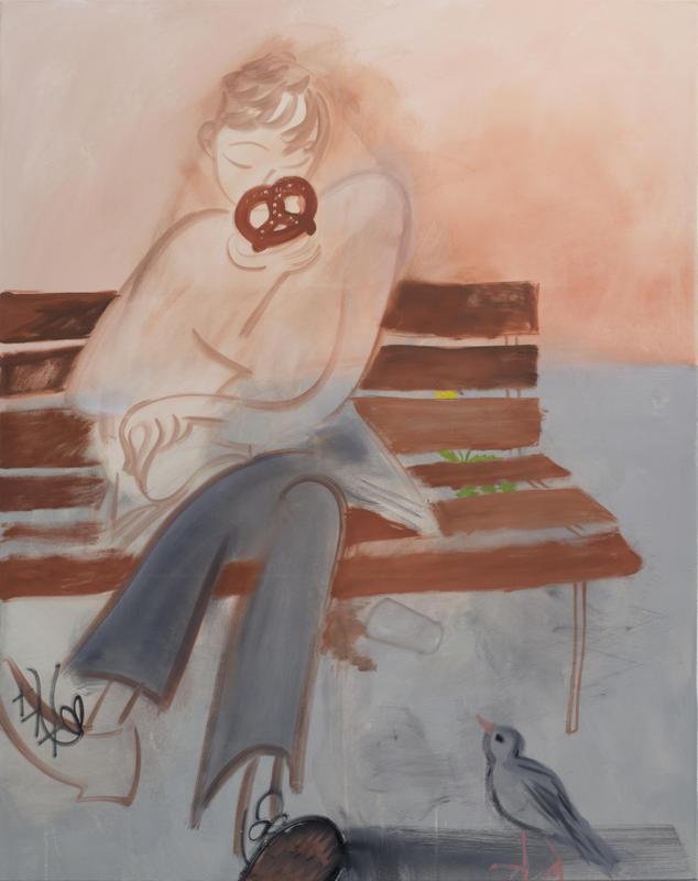 Pretzel, 2017, 152 x 122 cm, oil on canvas