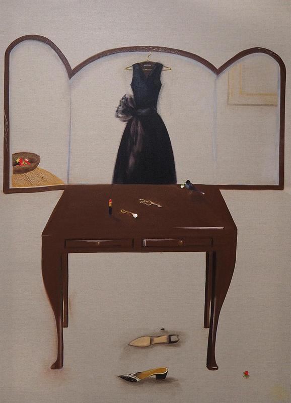 Dresser, 2018, 180 x 130 cm, oil on linen