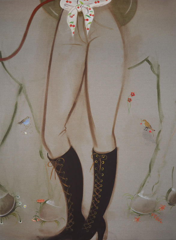 Nightingales, 2018, 180 x 130 cm, oil on linen
