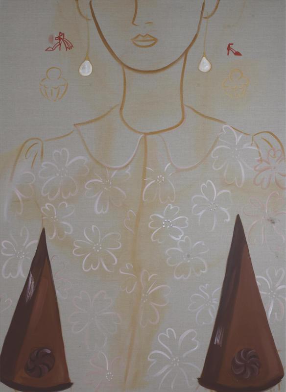 Sachertorte, 2018, 180 x 130 cm, oil on linen