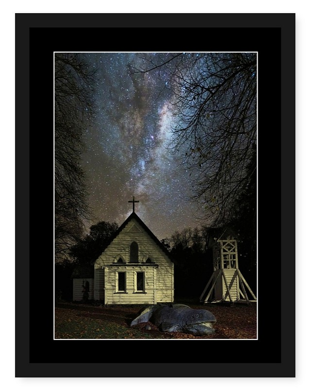 Milky Way rising over St Stephen's, Peel Forest (Limited Edition Print)