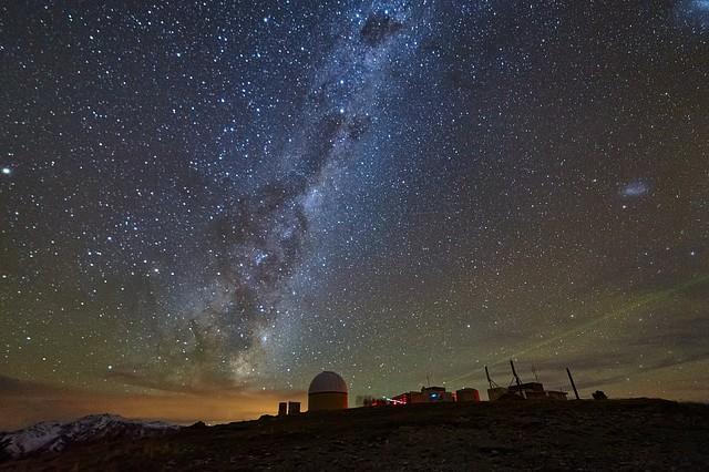 Milky Way rising over Mt John