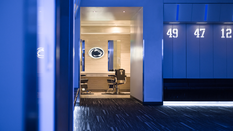 Penn State Locker Room by Populous Architects