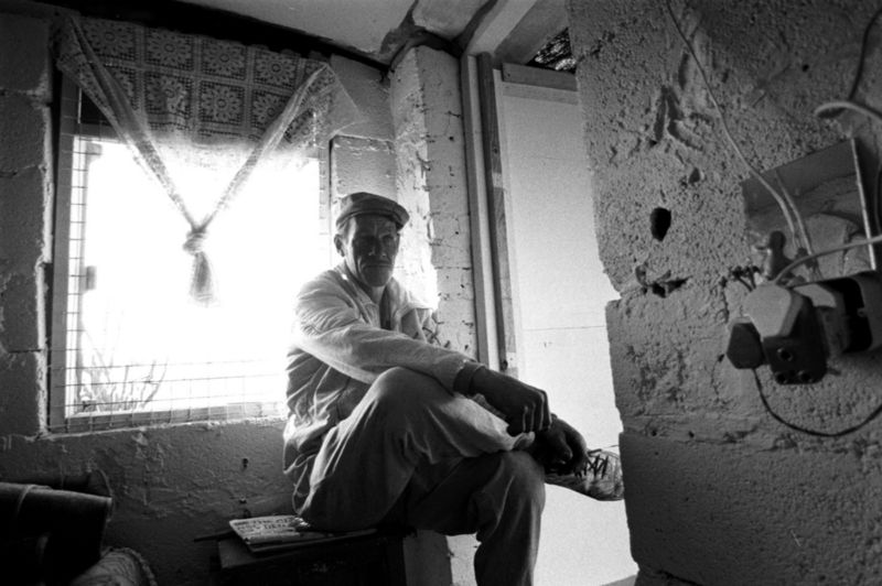 Man living in a hostel, Gauteng 1998