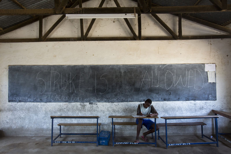 Classrooms at schools in Lodwar in Northern Kenya during the nationwide teacher strike in July 2013 photographed for UNESCO