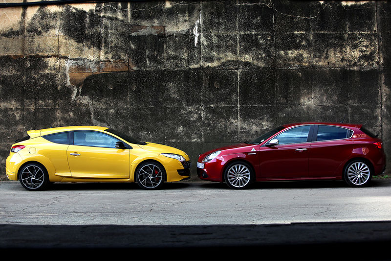 Renault Megane Sport and alfa Giulietta Clover Leaf