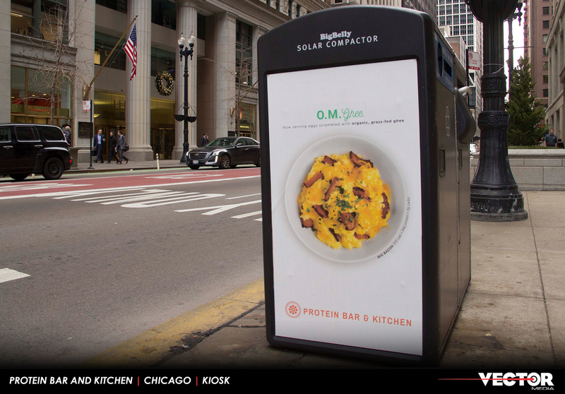 Solar Recycling Kiosk Breakfast Campaign  (Chicago)