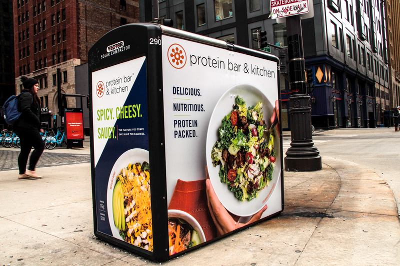 Solar Recycling Kiosk Bowls Campaign (Chicago)