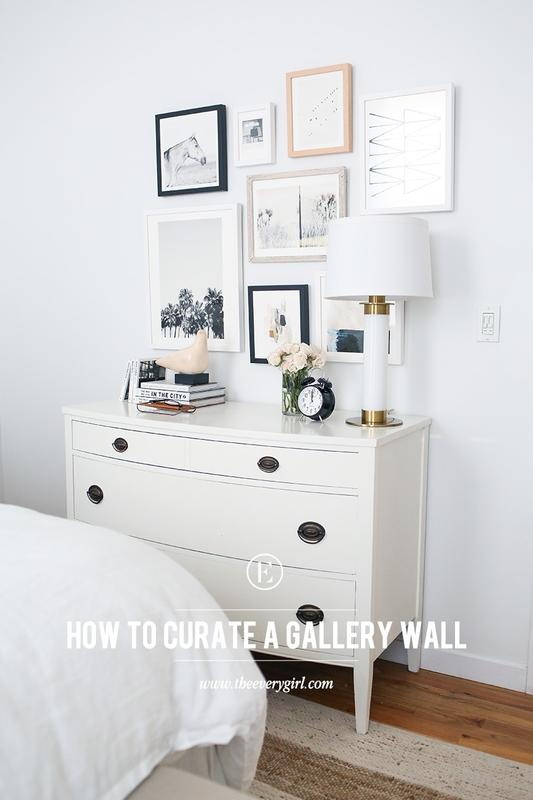 how to curate art for a collage gallery wall