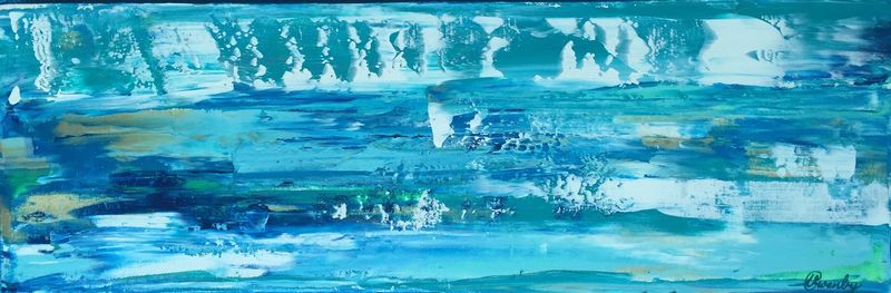 Surf's Up! (24x8x1.5 inches) Acrylic on Canvas 2015