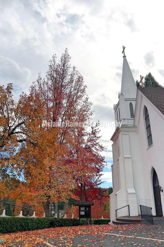 Old church in Nevada City, California