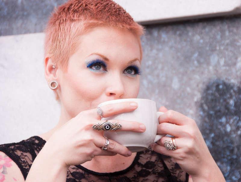 Athena takes a coffee break.