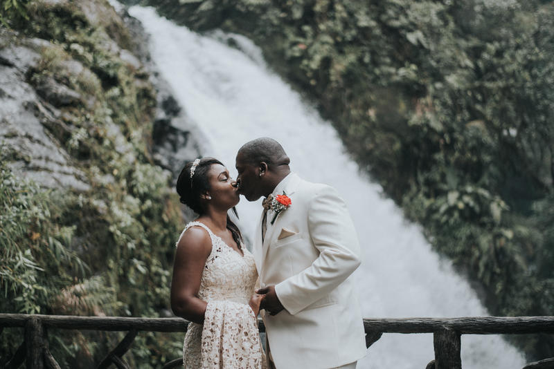 Ayreal & Deonte, Wedding Photography La Paz Waterfall Gardens, Costa Rica