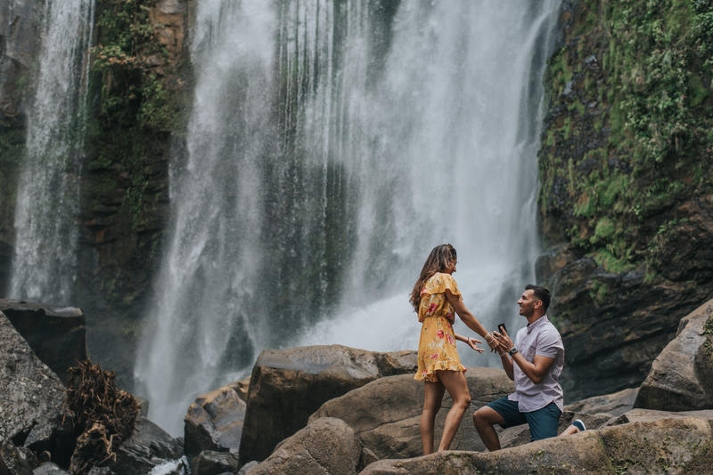 Shama & Shahbaz, Surprise Proposal in Nauyaca Waterfall, Costa Rica