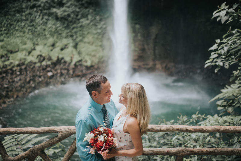 Don & Tracy, Vow Renewal, La Fortuna Waterfall Costa Rica