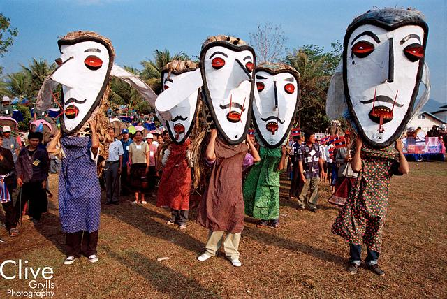 Elephant Festival, Sayaboury Province : Processions