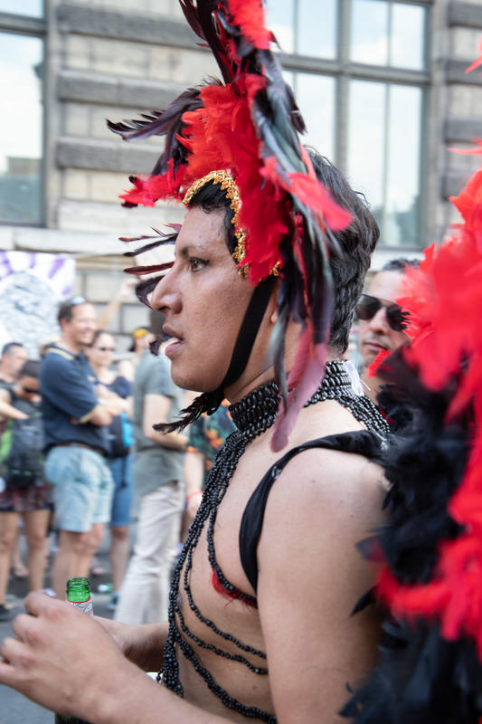 LGBT parade hold in Paris on 30 June 2018.
