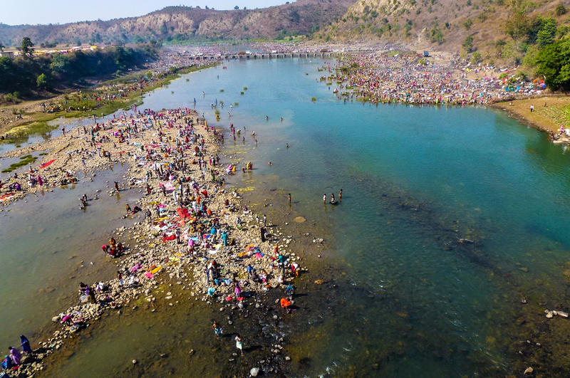 MAHA SHIVARATRI ON THE NARMADA