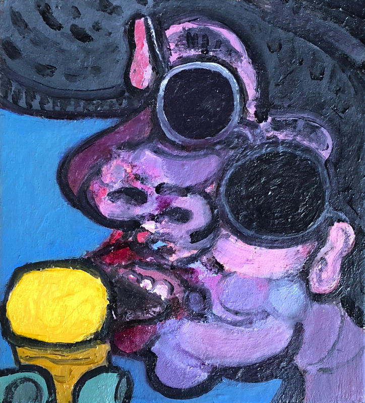 Dr Banners ice cream / oil on canvas / 20 x 18cm / 2018  / private collection