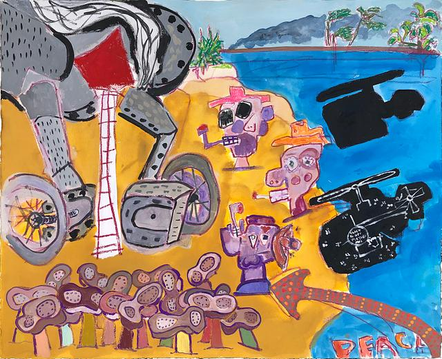 study 1_ south beach / gouache and watercolour on paper / ??cm x ??cm / 2020