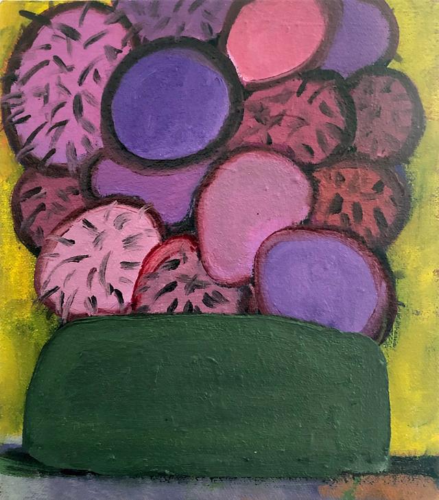bowl of bollacks / oil on canvas / 20cm x 20cm / 2020