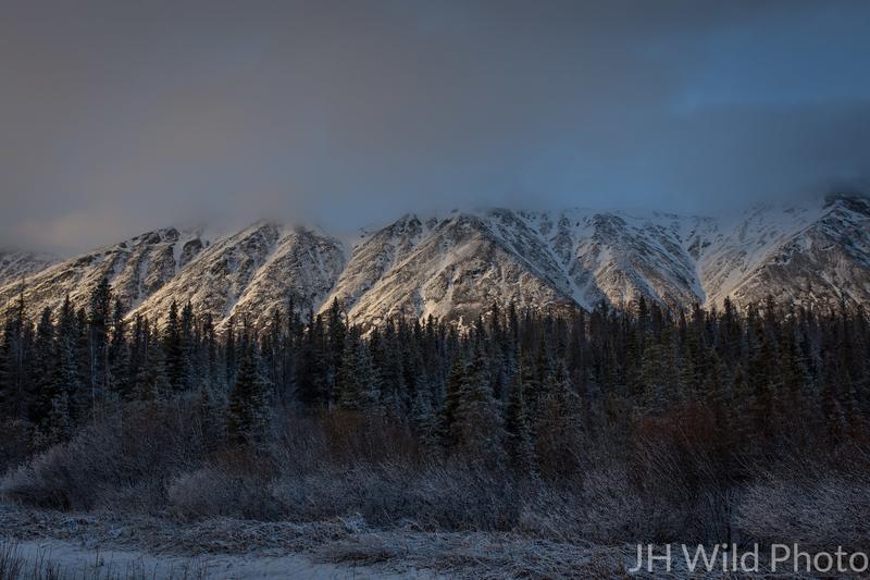 Yukon Mountains in Twilight