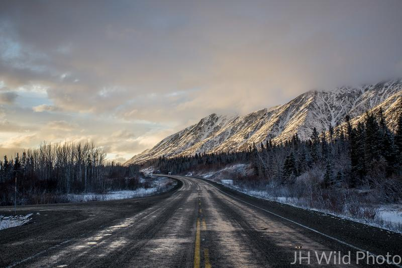 Haines Highway in twilight