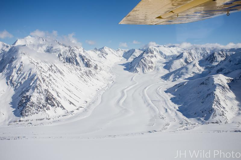 Kaskawulsh Glacier as viewed from Icefield Discovery's aircraft