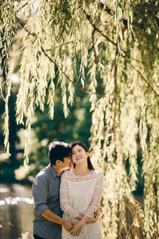 Eunji + Stephen Engagement | Centennial Park