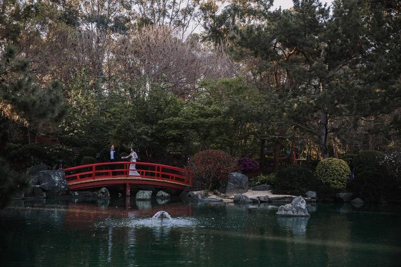 Kathleen + Andy | Japanese Garden Auburn Botanical Gardens