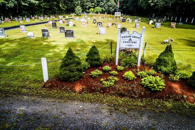 Newton NH Aerial Cemeteries